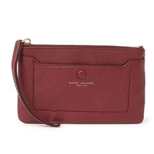 Marc Jacobs mulled wine city leather wristlet